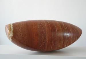 2018 - cocon  Iraans travertijn - 39x18x17cm