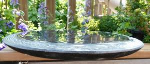 waterbeeld 13 c - Ierse kalksteen - 45x35x4cm