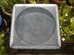 vogelbad 10 - 35x35x5cm - Iers hardsteen