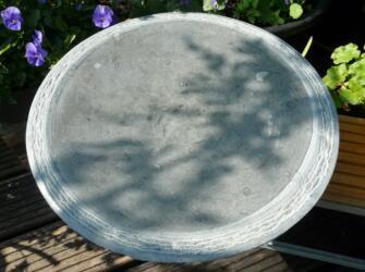 waterbeeld 14a - anröchter kalksteen - diam. 40cm x 6cm dik