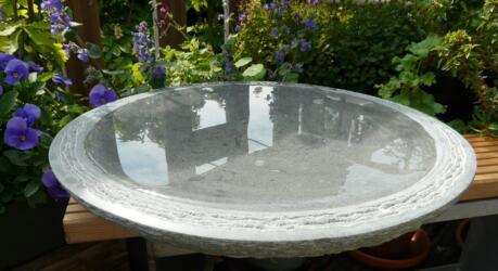 waterbeeld 14b - anröchter kalksteen - diam. 40cm x 6cm dik