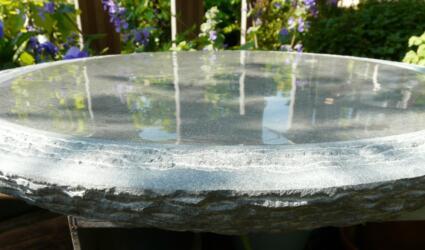 waterbeeld 14c - anröchter kalksteen - diam. 40cm x 6cm dik